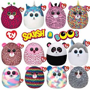 """Ty Squish-A-Boos 14"""" Super Soft Cuddle & Squeeze Squishy Animal Plush Toy"""