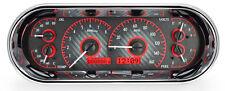 Dakota Digital Universal Oval Analog Dash Gauges Carbon Fiber Red VHX-1018-C-R