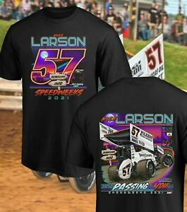 NEW!! Kyle Larson 2021 OH/PA Speedweek T-Shirt Unisex 100% Cotton All Size S-5XL
