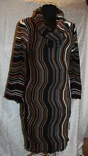 New Directions Womens Knit Dress XL Multi Color Stripes Abstract Geometric Cowl