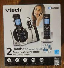 New VTech DS6771-3 Black Silver Bluetooth Double Handset Digital Cordless Phone