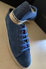 New Bottega Veneta Men Suede Espadrille Shoes Blue 10 US ( 43 Eu ) Italy