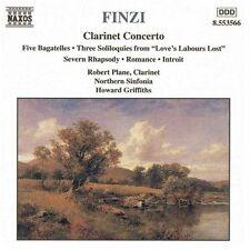 FINZI CLARINET CONCERTO Five Bagatelles MUSIC CD