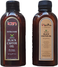 100%  jamaican black castor oil original, extra dark *same result as sunny isle*