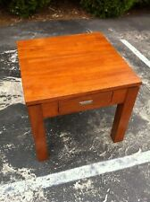 Beautiful Solid Wood Dirty Oak Coffee Lamp Table W 60 cm x L 60 cm x H 53.5 cm