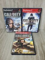 Call of Duty Bundle Lot Finest Hour, 2, World at War, PS2 PlayStation 2