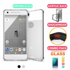 Google Pixel 2 / Pixel XL 2 Shockproof Crystal Bumper Acrylic Back Case Cover AU
