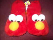 Toddler Boy / Girl Sesame Street ELMO Plush Slippers. Size 9 / 10.  New  NWT