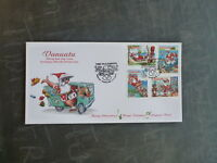 2013 VANUATU CHRISTMAS SET 4 STAMPS FDC FIRST DAY COVER