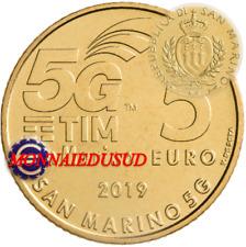 5 Euro Commémorative Saint-Marin 2019 - 5G Télécommunications Mobiles