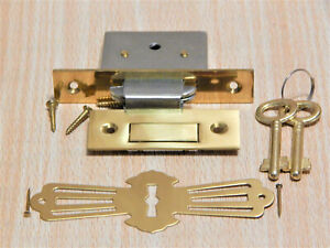 REPLACEMENT LOCK FOR ROLL TOP DESK SKELETON KEYS, SQUARE CORNERS