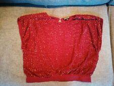 Biba Backless Sequin Top, Size 12