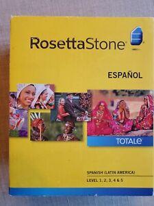 RosettaStone spanish (Latin America) level 1-5 -version 4