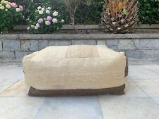 "Handmade Vintage Ethnic Decorative Pouf, Kilim Pouf Pillow Cover 24""x24''x10''"