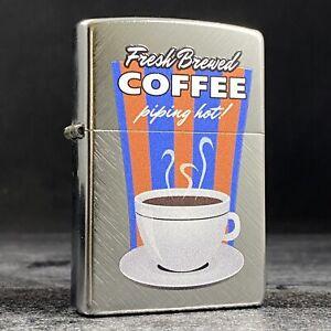 Riley's 66 Custom Zippo Lighter - Fresh Brewed Coffee - Herringbone Sweep