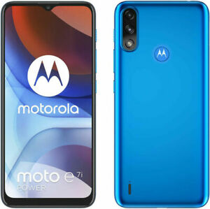 Motorola E7I Power Tahiti Blue NEW