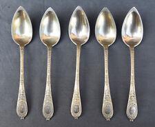 5 cuillères à dessert en Vermeil argent massif poincon Vieillard style empire