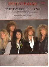"WHITESNAKE ""THE DEEPER THE LOVE"" SHEET MUSIC-GUITAR-TAB EDITION-RARE-NEW ON SALE"