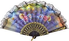Fan Lace Floral Design Fancy Dress Prop Moulin Rouge Show Girl Burlesque
