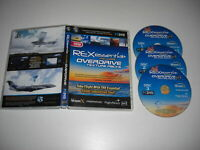 REX ESSENTIAL inc Overdrive Pc DVD Rom Add-On Flight Simulator Sim X FSX