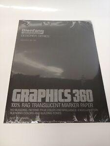Bienfang Graphics 360 100% Rag translucent Marker Paper 50 Sheets  9x12