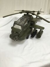 """HM Armed Forces 25"""" Green Apache Attack Helicopter 2011 With Action Figure"""
