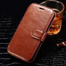 Retro Leather Magnetic Flip Wallet Stand Case Cover For Samsung Galaxy S4 S5 S6