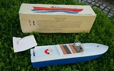 VINTAGE BOAT SHIP TOY LENINGRAD BATTERY OPERATED METAL PLASTIC ORIGINAL BOX