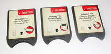 Lot of 3 adapters Imation to CompactFlash MMC ADSISD02 MS ADSIMS02 SM ADSISM01