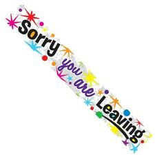 Sorry Your Leaving Silver Foil Party Banner - Sorry You Are Leaving