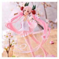 23cm Anime Model Sakura Pink Hatsune Miku Action Figure Collectible Girls Toy