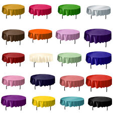 "57"" Round Satin Tablecloth Cover Good Quality Wedding Party Banquet Home Decor"