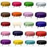 "57"" Round Satin Tablecloth Cover Wedding Party Restaurant Home Tablecloths Decor"