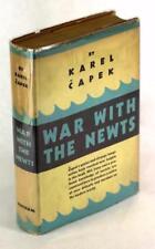 First Edition 1937 War With the Newts Karel Capek Sci Fi Satire HC w/DJ