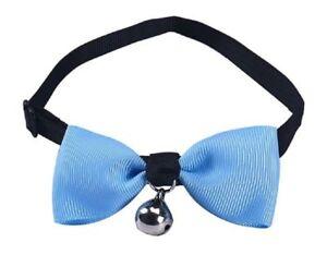 Accessoire costume déguisement chien ou chat 1 noeud papillon en tissu - bleu