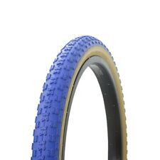 "Wanda Bike Bicycle Tire 20"" x 2.125"" Blue/Gum Side Wall Comp 3 BMX Freestyle P-1"