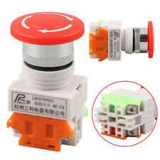 CNC Red Rotary Emergency Stop Switch Mushroom Safe Pushbutton 4 Screw LAY37-11ZS