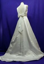 Mori Lee White Wedding Dress Sleeveless Beaded Bridal Gown Size 10