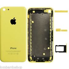 ATRÁS COVER TAPA MEDIO FRAME MARCO PARTE TRASERA PARA APPLE IPHONE 5 C AMARILLO