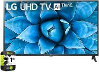 LG 75UN7370PUE 75 inch UHD 4K HDR AI Smart TV 2020 Model Bundle with 1 Year