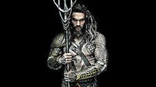 Movie Aquaman Jason Momoa Superhero Silk Poster/Wallpaper 24 X 13 inches