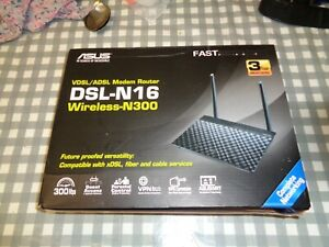 ASUS DSL-N16 WIRELESS-N300 MODEM ROUTER,see photos