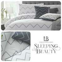 Laurence Llewelyn-Bowen COCKTAIL Duvet Cover Set Bedding White Grey Embroidered