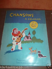 Chansons à colorier (non vierge) - éditions Volumétrix