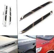 Auto Flow Fake Vents Fender Intake Shark Grille Air Net Door Hood Side JDM AH