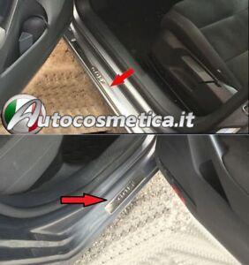 Set 4 Listelli Battitacco Sottoporta Stemma Emblema per VW GOLF 5 6 7 VI VII