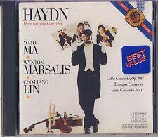 Haydn - Yo-Yo Ma, Marsalis, Lin: Three Favorite Concertos (CBS Records) New