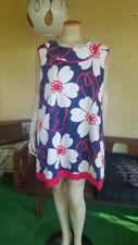 Major MOD RWB OP Art Bold Print TENT Mini Vintage 60's Cotton Dress XL/XXL 52B