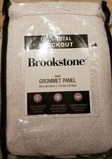 Brookstone Zadie 84 In Grommet 100% Blackout Window Curtain Panel in Pearl