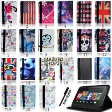 "For Amazon Kindle Fire 7"" 8"" 8.9"" 10"" Tablet - FOLIO LEATHER STAND CASE COVER"